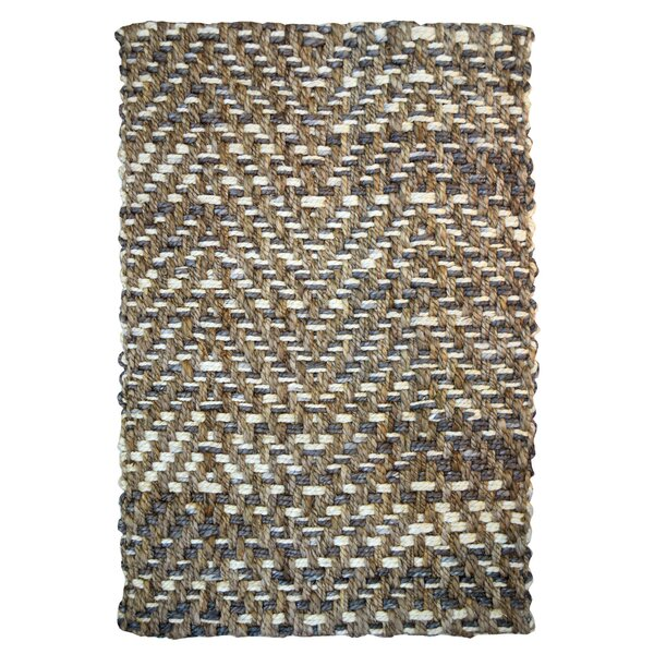 One-of-a-Kind Riehl Herringbone Hand-Woven Brown Indoor/Outdoor Area Rug by World Menagerie