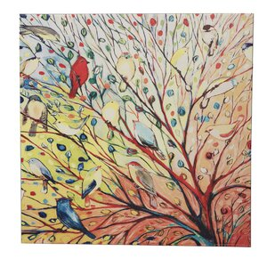 'Take Flight Birds in the Trees' Painting Print on Canvas by August Grove