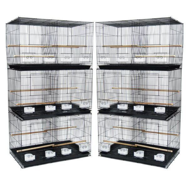 Lot of Six Small Bird Cage with Divider by YML