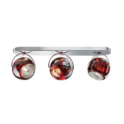 Beluga 3-Light Ceiling Spotlight Fabbian Shade Colour: Red