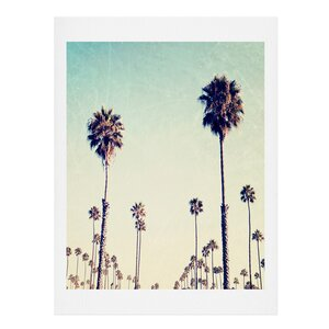 California Palm Trees Painting Print by Beachcrest Home