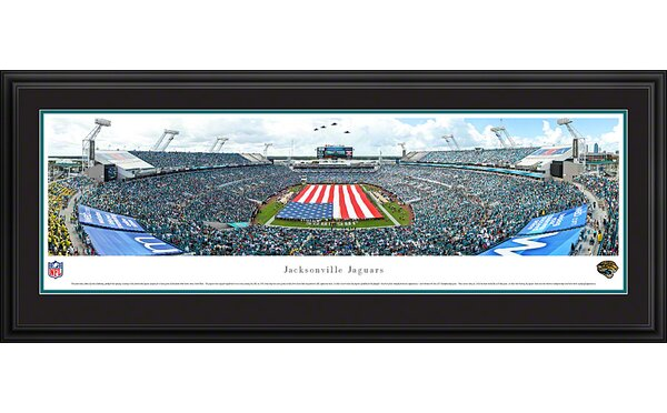 NFL Jacksonville Jaguars - Opening Ceremony Deluxe by James Blakeway Framed Photographic Print by Blakeway Worldwide Panoramas, Inc