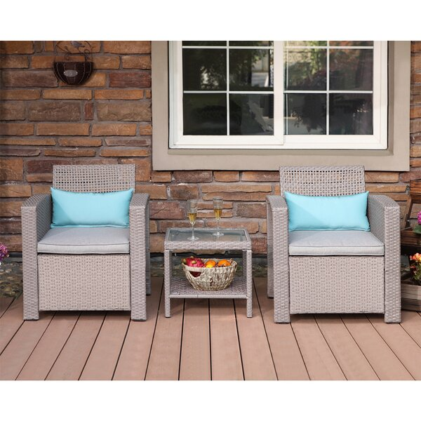 Gosford 5 Piece Bistro Set with Cushions by Highland Dunes