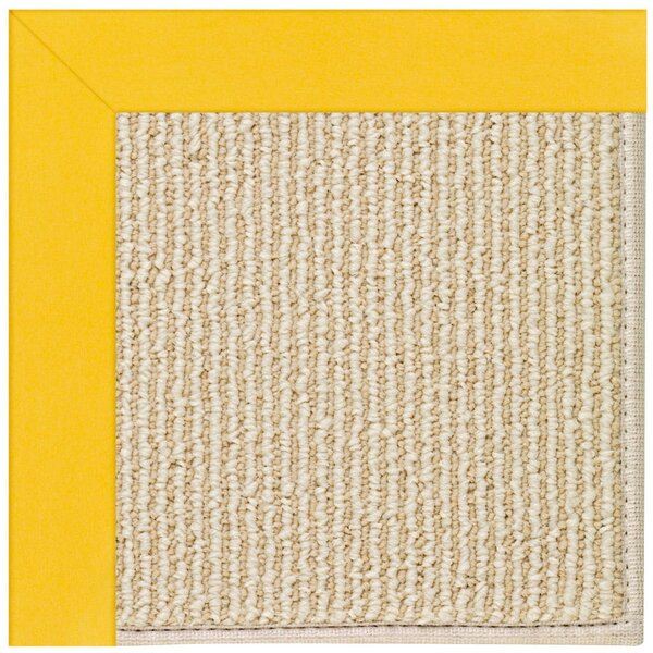 Lisle Machine Tufted Summertime Yellow/Beige Indoor/Outdoor Area Rug by Longshore Tides