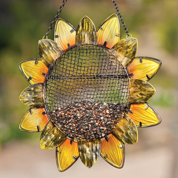 Sunflower Decorative Bird Feeder by Evergreen Flag & Garden