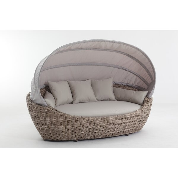 Seager Patio Daybed with Cushions by Brayden Studio