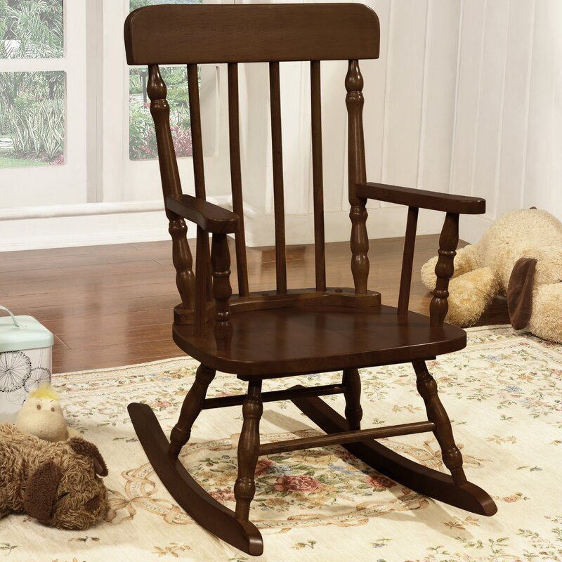 Della Kid's Solid Pine Wood Rocking Chair - Harriet Bee Della Kid's Solid Pine Wood Rocking Chair Wayfair