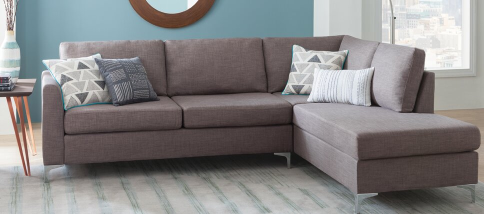 Modern contemporary living room furniture allmodern for Modern front room furniture