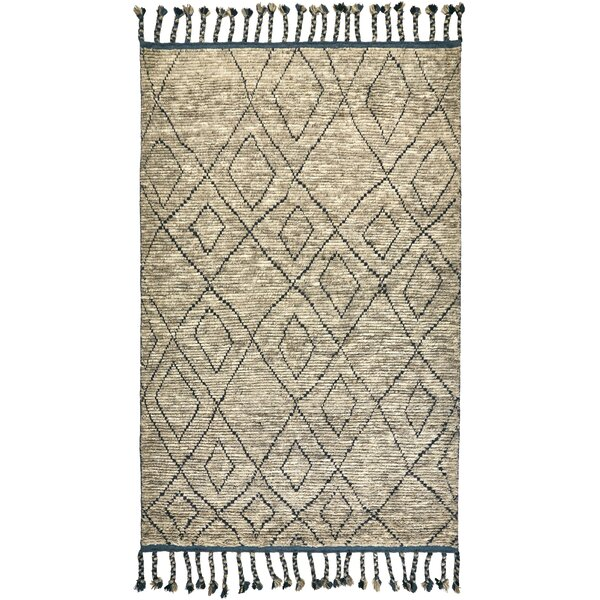 Rego Hand-Knotted Wool Dusk Area Rug by Bloomsbury Market