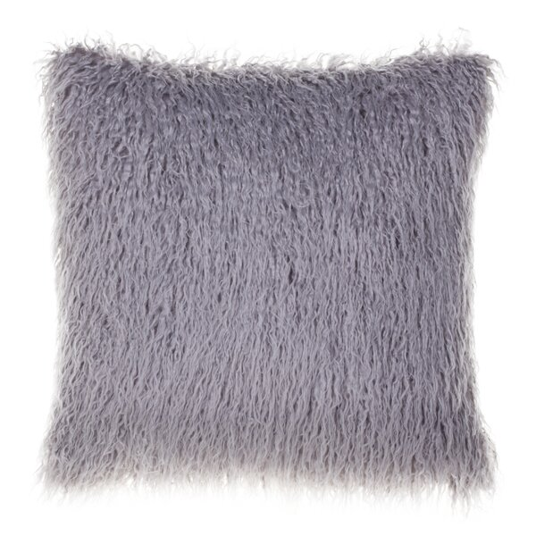 Kemmerer Faux Fur Throw Pillow by Mercer41