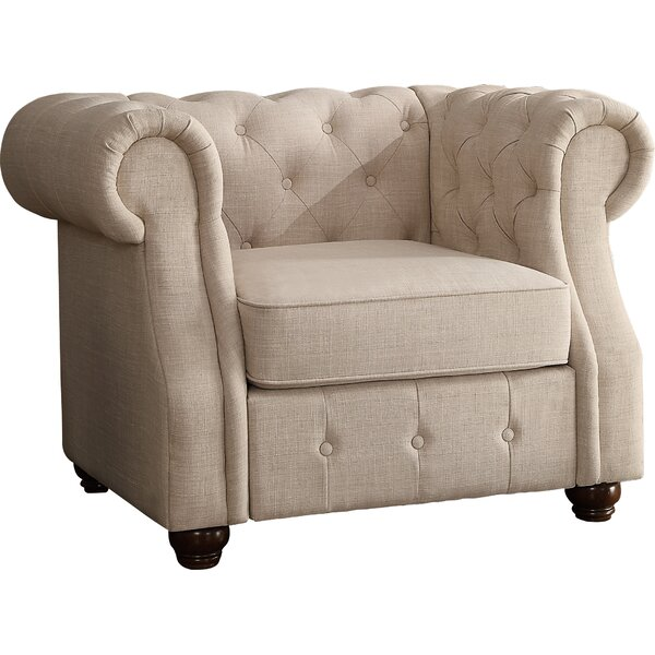 Evart Chesterfield Chair by Three Posts