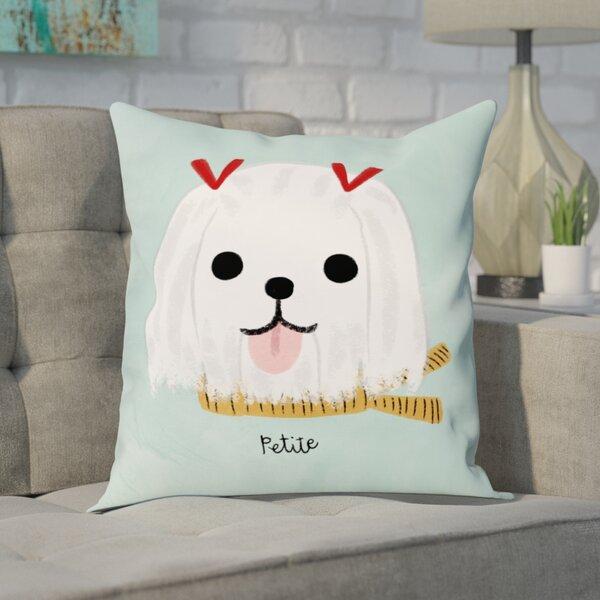 Kimbro Petite Maltese Throw Pillow by Brayden Studio