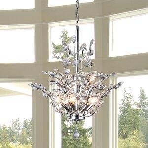 Brookleigh Leaf 9-Light Crystal Chandelier