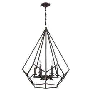 Read Reviews 6-Light Geometric Chandelier By Sunset Lighting