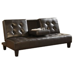 Best Reviews Fish Faux Leather Upholstered Futon Convertible Sofa By Ebern Designs