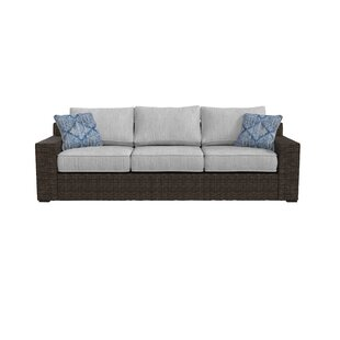Barnfield Patio Sofa with Cushions by Bloomsbury Market