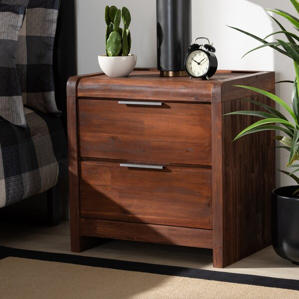 Ferretti 2 Drawer Nightstand by Union Rustic