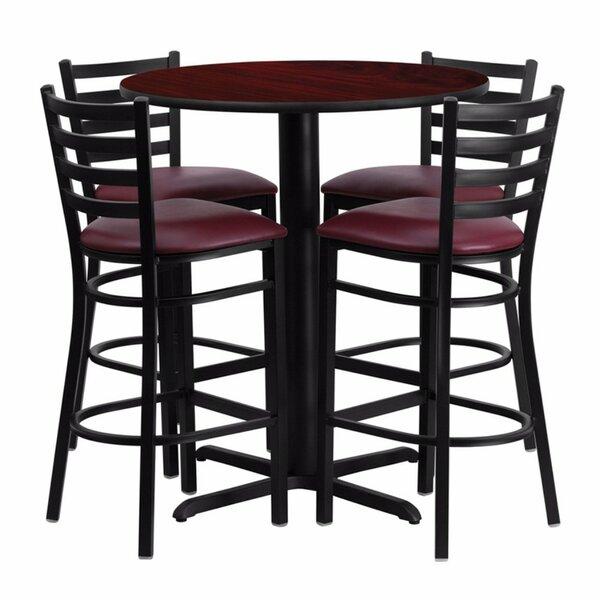 Alvarez Round Laminate 5 Piece Pub Table Set by Red Barrel Studio