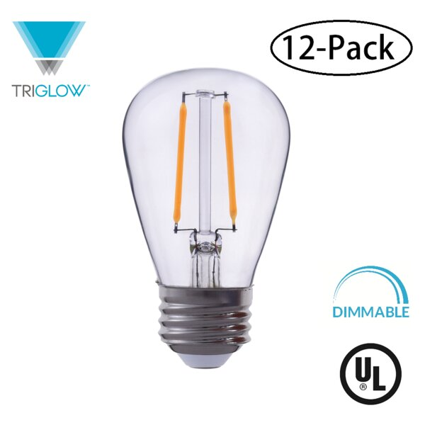 25W Equivalent E26 LED Standard Edison Light Bulb (Set of 12) by TriGlow