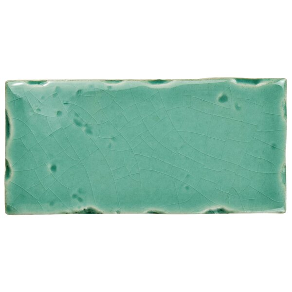 Frisia Subway 2.5 x 5.13 Ceramic Subway Tile in Teal by EliteTile