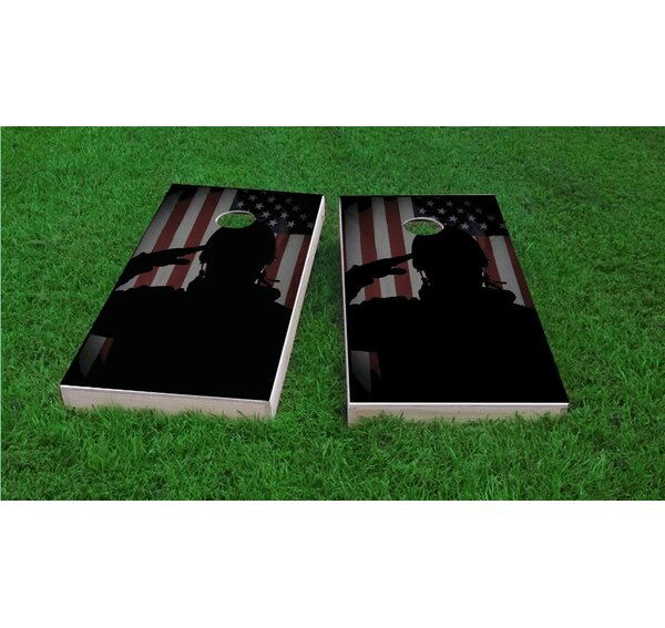 Veterans Salute Light Weight Cornhole Game Set by Custom Cornhole Boards