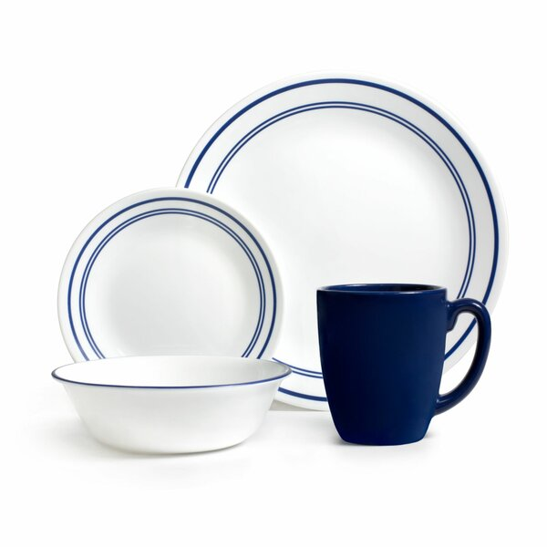 Livingware Classic Cafe 16 Piece Dinnerware Set, Service for 4 by Corelle