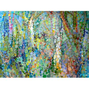 'Abstract Woodland' Painting Print on Wrapped Canvas by Zipcode Design