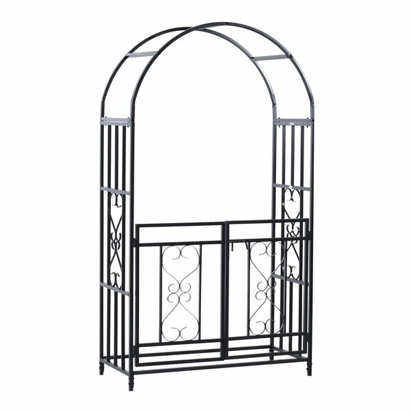 Decorative Steel Arbor with Gate by HomCom