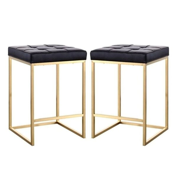 Waterville Bar Stool (Set of 2) by Everly Quinn Everly Quinn