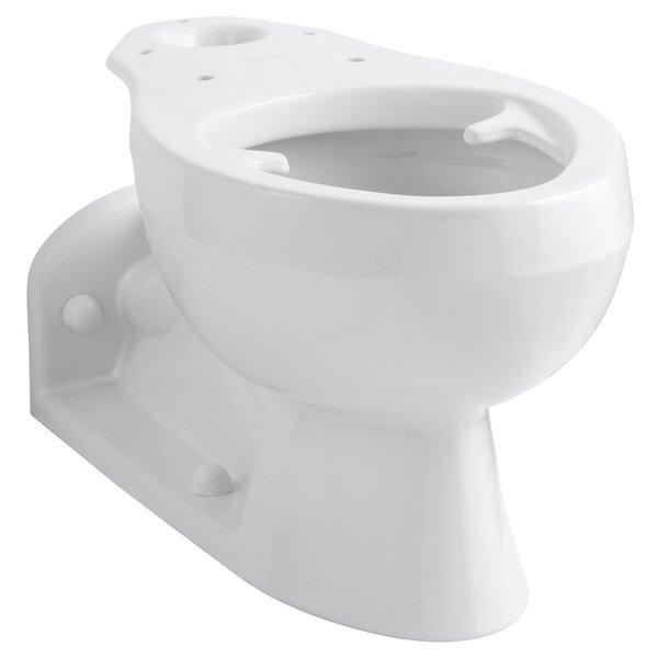 Barrington Elongated Bowl with Pressure Lite Flushing Technology, Less Seat by Kohler