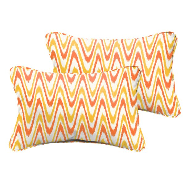 Merauke Indoor/Outdoor Lumbar Pillow (Set of 2) by Latitude Run