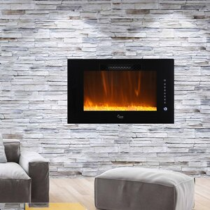 Brentwood Linear Multicolor Flame Wall Mount Electric Fireplace