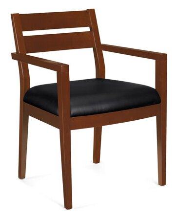 Stack and Guest Leather Guest Chair by Offices To Go
