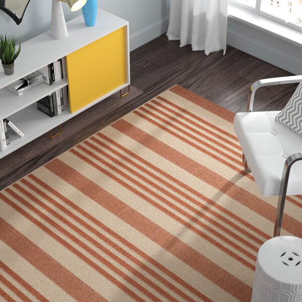 Sophie Orange Indore/Outdoor Area Rug by Andover Mills