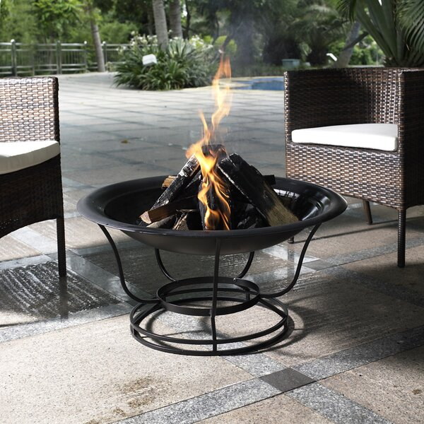 Buckner Steel Wood Burning Fire Pit by Crosley