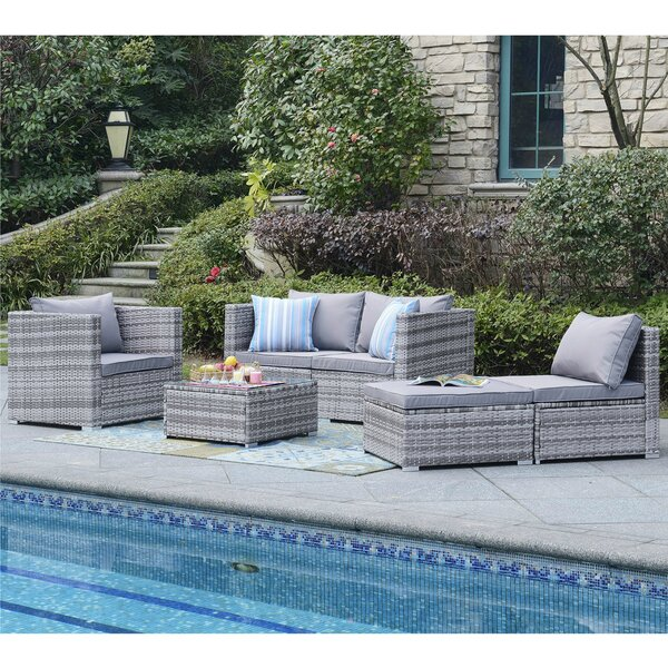 Augusta 6 Piece Sectional Set With Cushions By Beachcrest Home