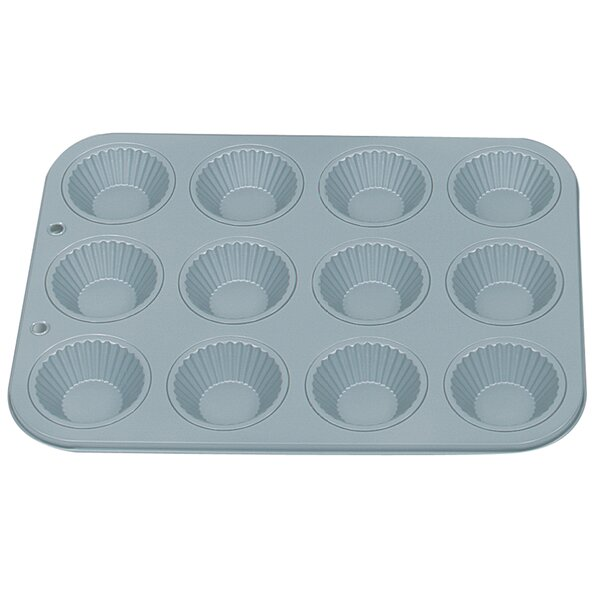 Non-Stick 12 Cup Ribbed Tart Pan by Fox Run Brands