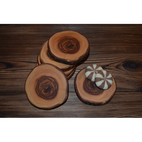 Olive Wood Coaster (Set of 4) by Pomegranate Solutions, LLC
