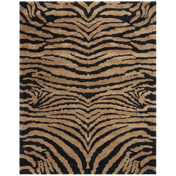 Dorthy Black/Brown Area Rug by Bloomsbury Market