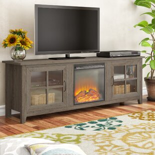 Daily TV Stand for TVs up to 78 with Electric Fireplace