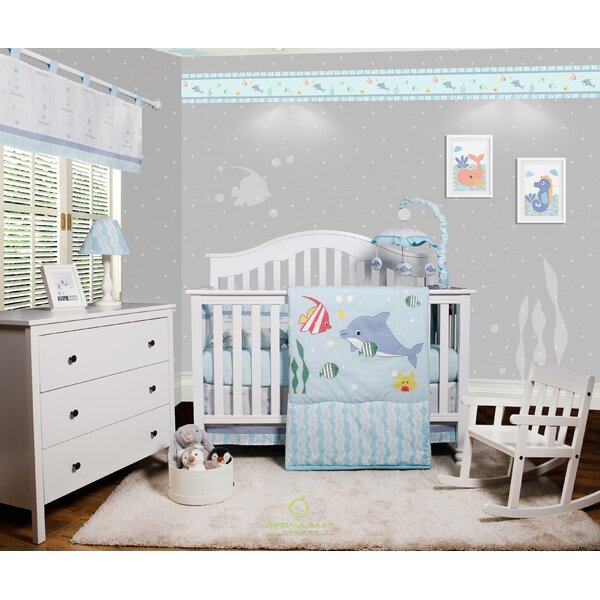 Harrelson Ocean Sea Dolphin Baby Nursery 6 Piece C