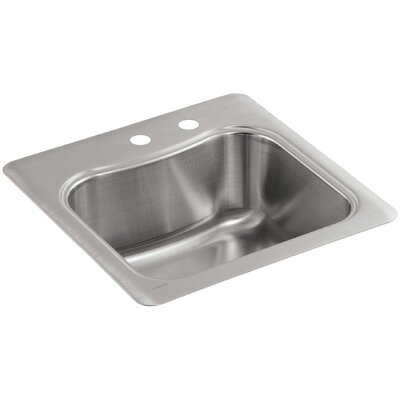 Staccato Top Mount Single Bowl Bar Sink With 2 Faucet Holes