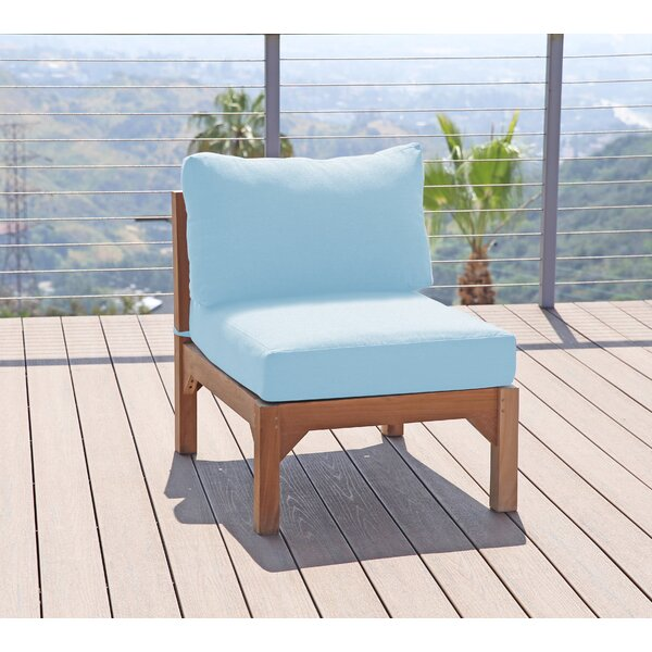 Vermehr Teak Patio Chair with Sunbrella Cushions (Set of 2) by Foundry Select Foundry Select