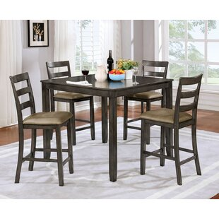 Jaiden Wooden 5 Piece Counter Height Dining Table Set ByMillwood Pines