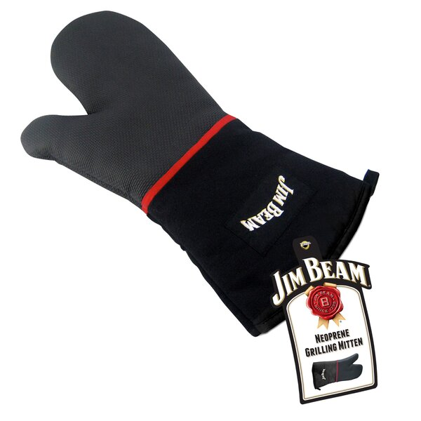 BBQ Heavy Duty Grilling Mitten with Neoprene by Jim Beam