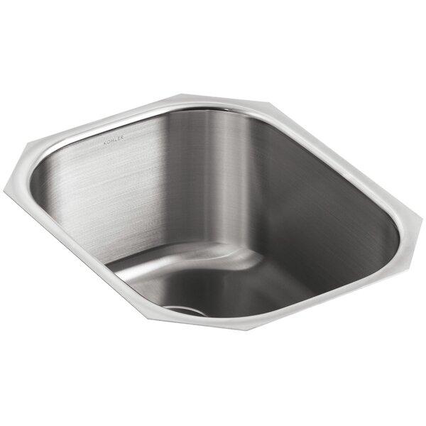Undertone 15-1/2 L x 19-5/8 W x 9-1/2 Under-Mount Round Single-Bowl Kitchen Sink by Kohler