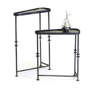 Kason Asymmetrical 2 Piece End Table Set