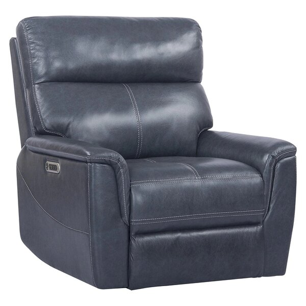 Wales Leather Power Recliner By Red Barrel Studio