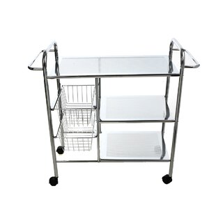 3 tier cart with wheels movable tier utility cart wayfair