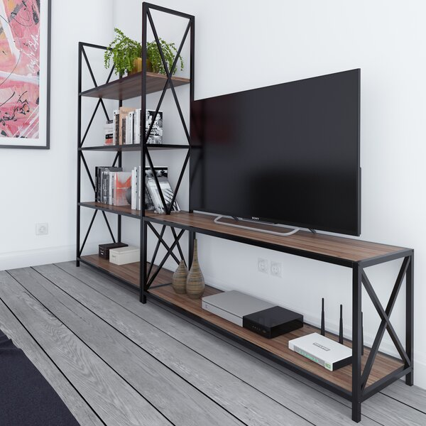 Altom X-Frame Metal Industrial Entertainment Center for TVs up to 60